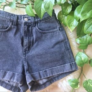 AMERICAN APPAREL High Rise Stone Wash Shorts 25